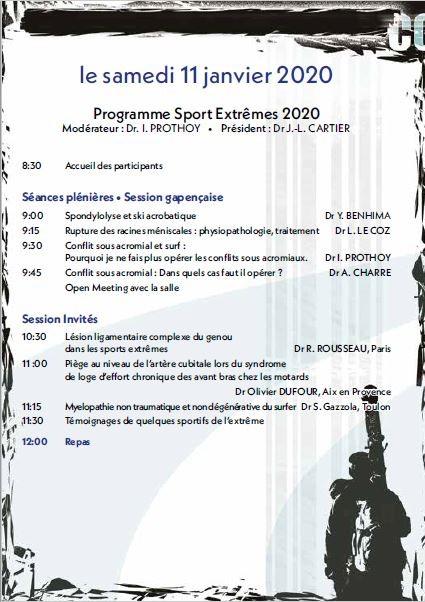 Congrés de médecine et traumatologie des sports extrèmes